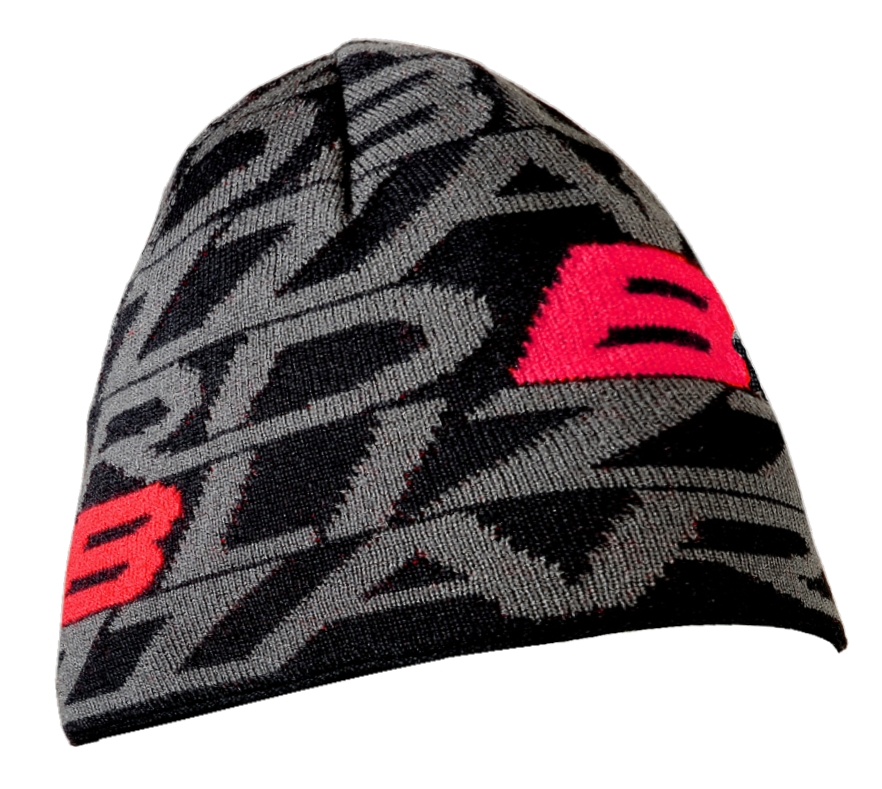 Dragon cap, black/red