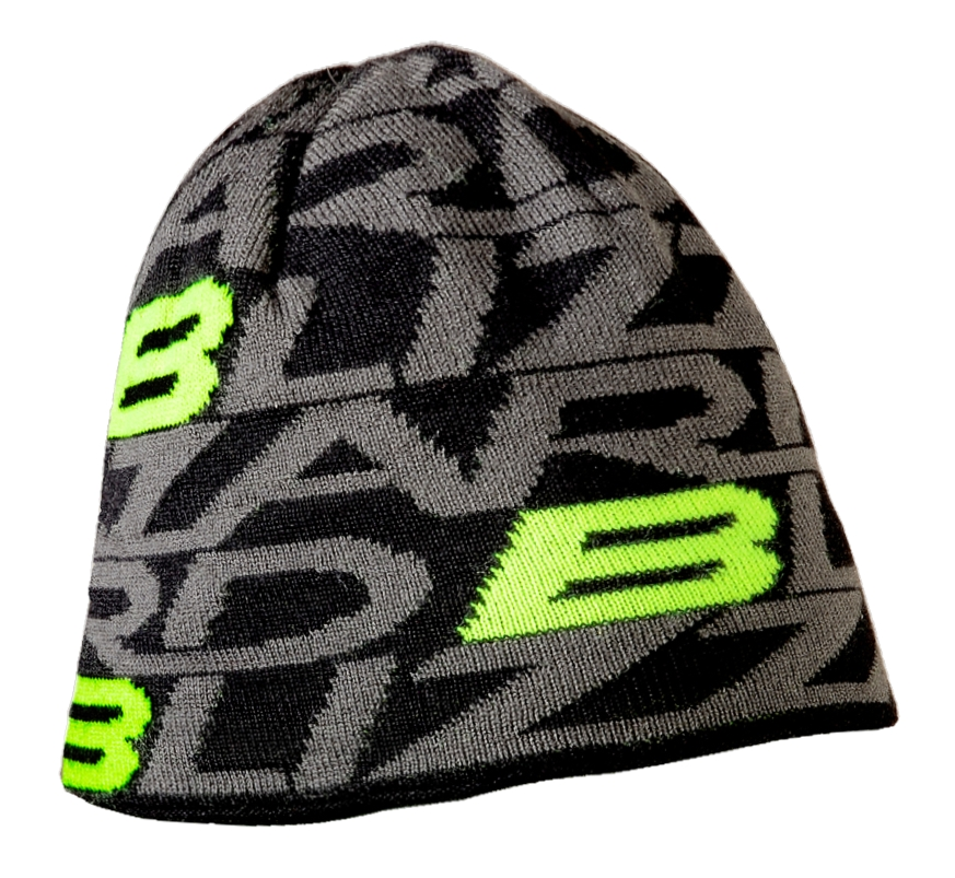 Dragon cap, black/green