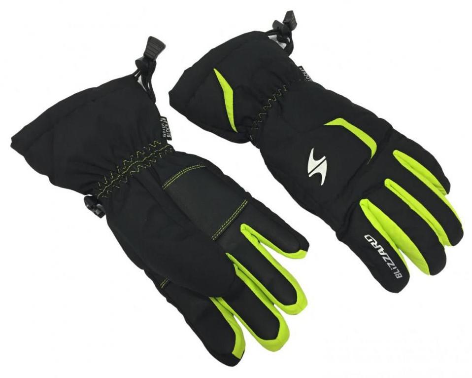 Reflex junior ski gloves, black/green