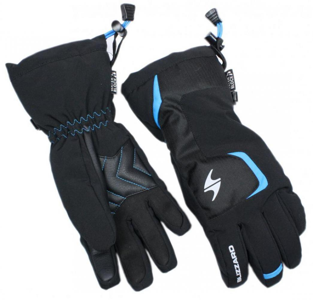 Reflex junior ski gloves, black/blue
