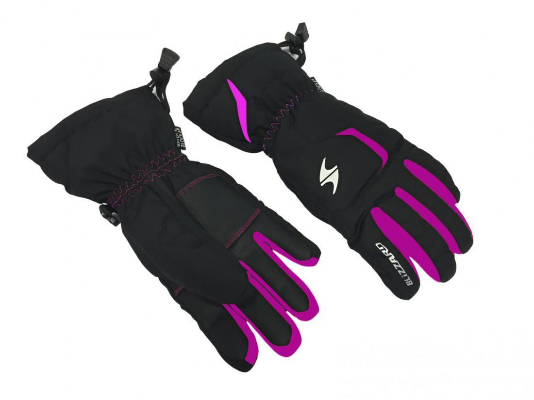Reflex junior ski gloves, black/pink