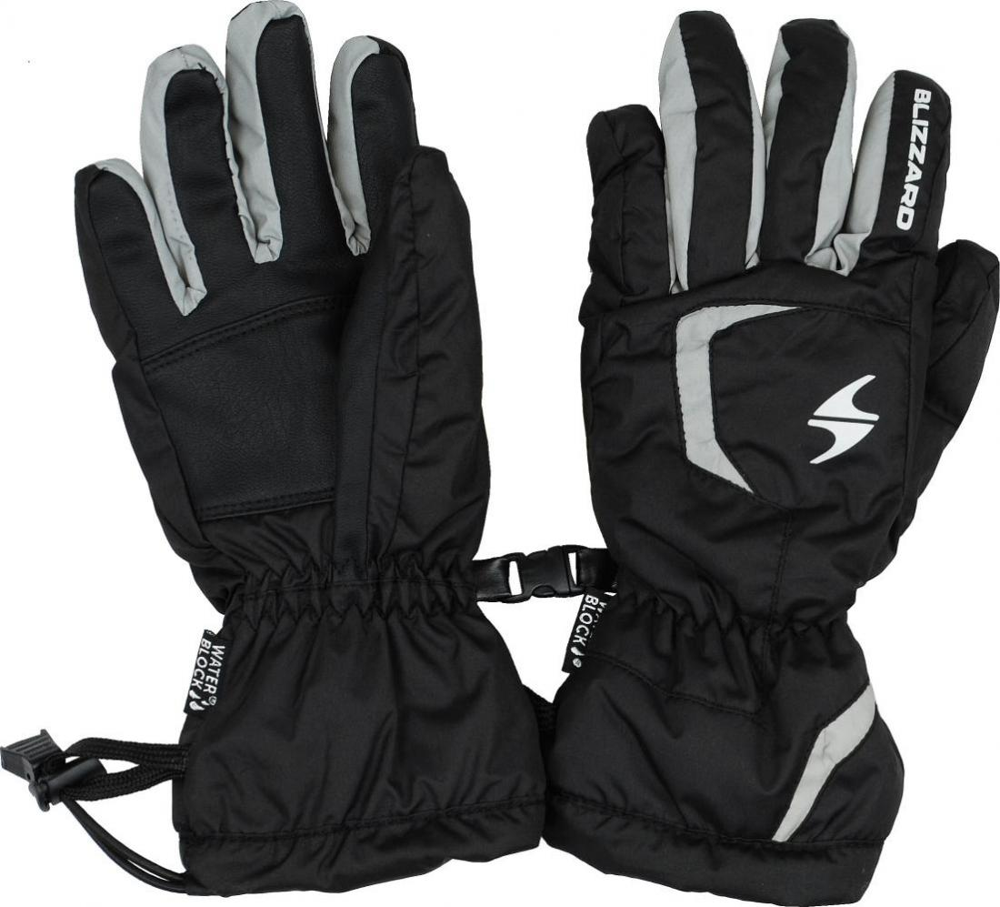 Reflex junior ski gloves, black/silver