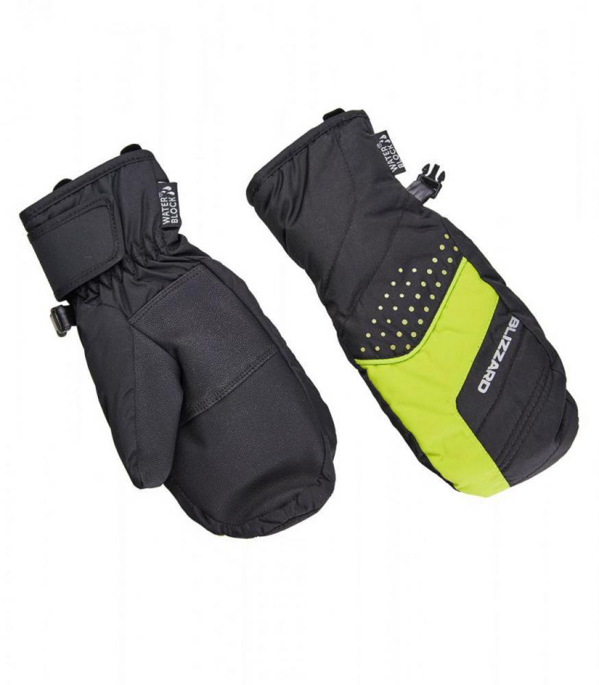 Mitten junior ski gloves, black/green