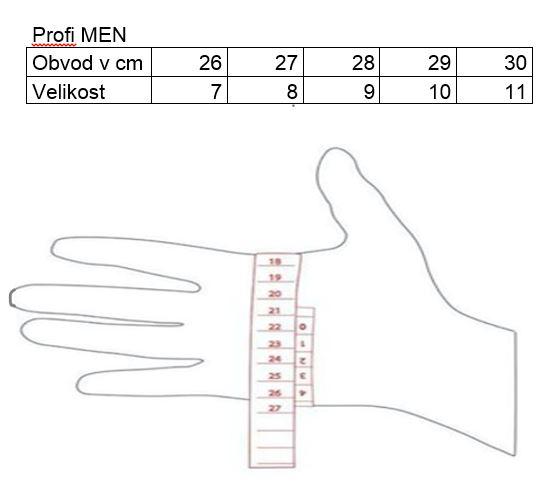 Profi ski gloves, black/silver
