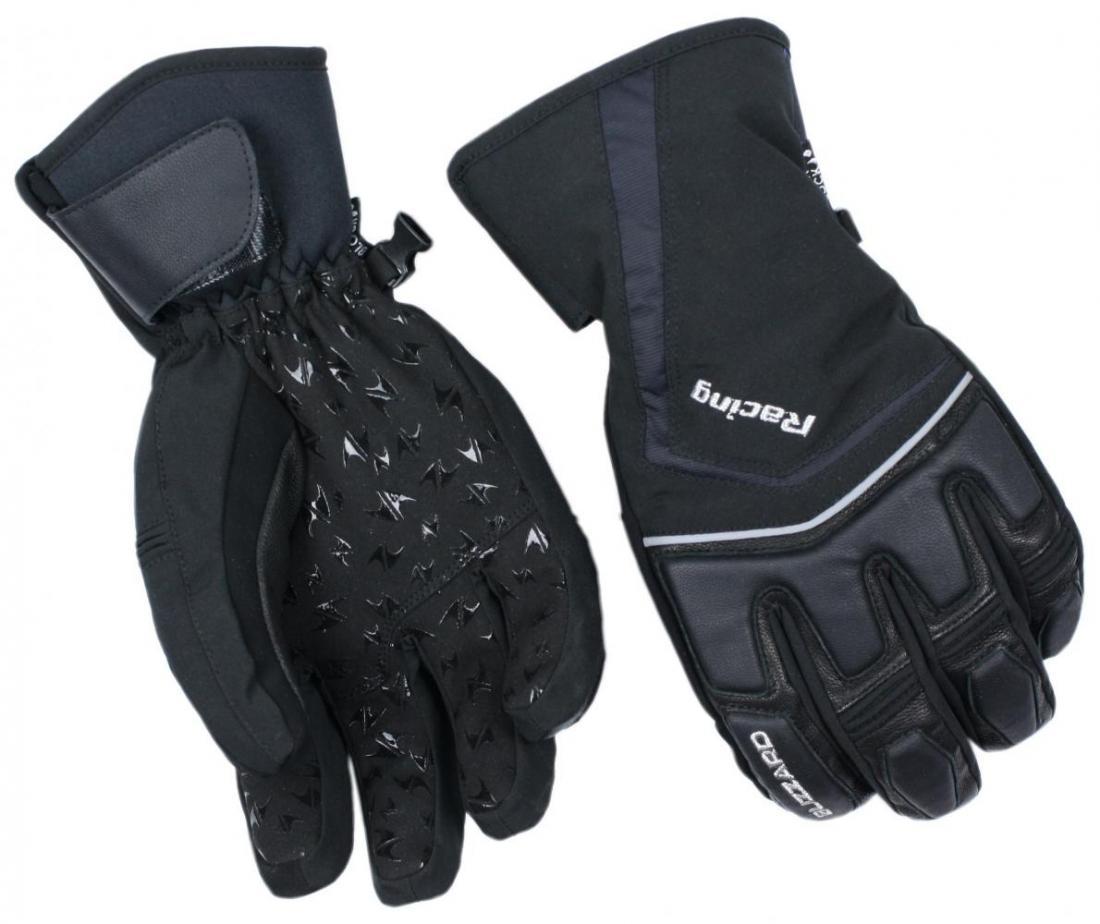 Racing ski gloves, black/silver