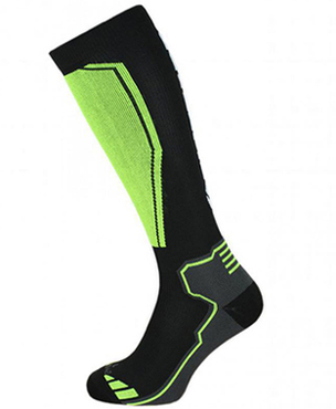 Compress 85 ski socks, black/yellow