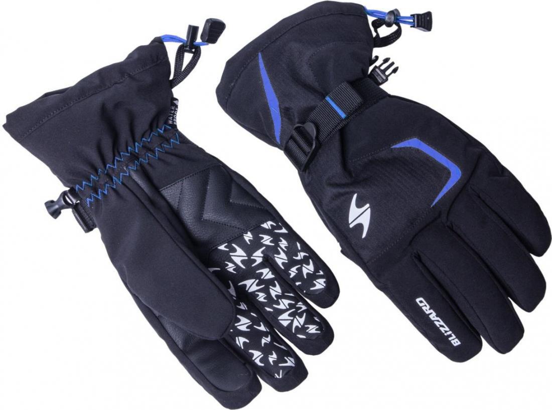 Reflex ski gloves, black/blue