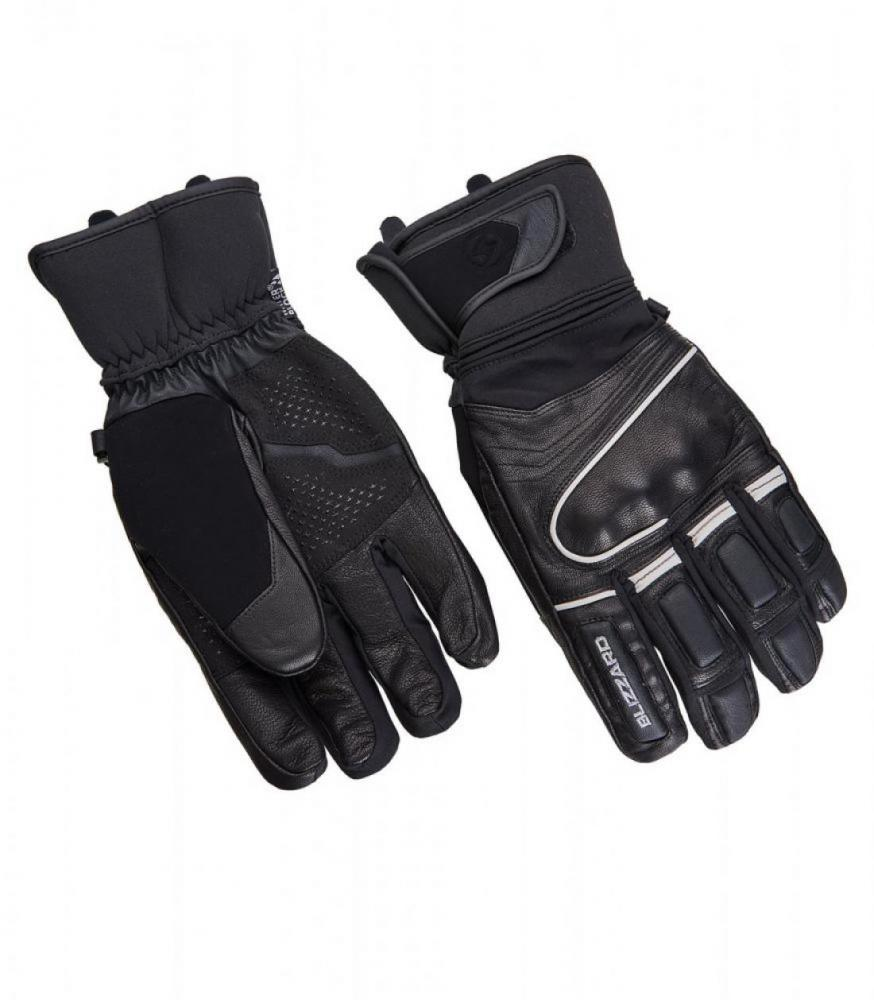 Competition ski gloves, black/silver