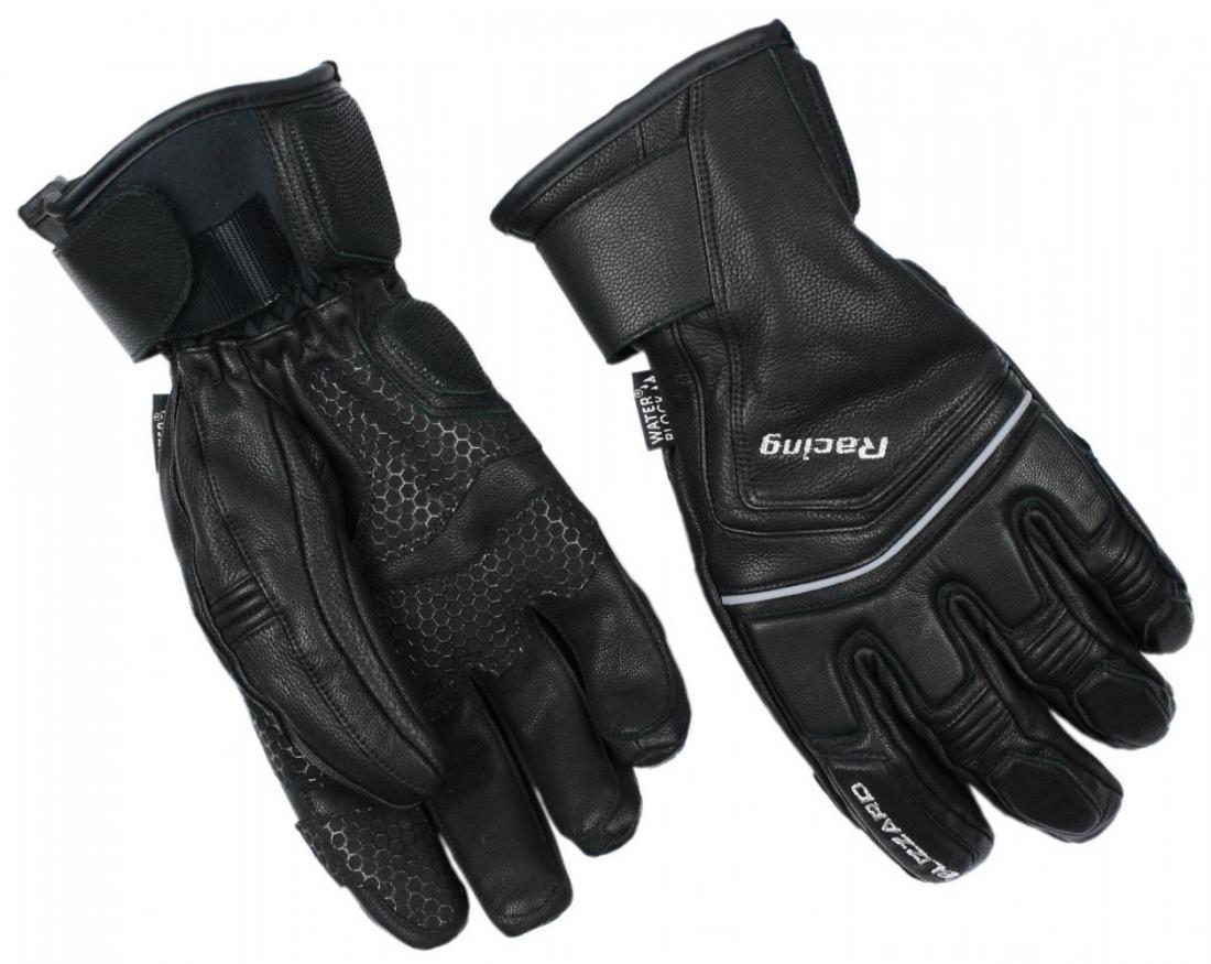 Racing Leather ski gloves, black/silver