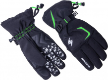 Reflex ski gloves, black/green